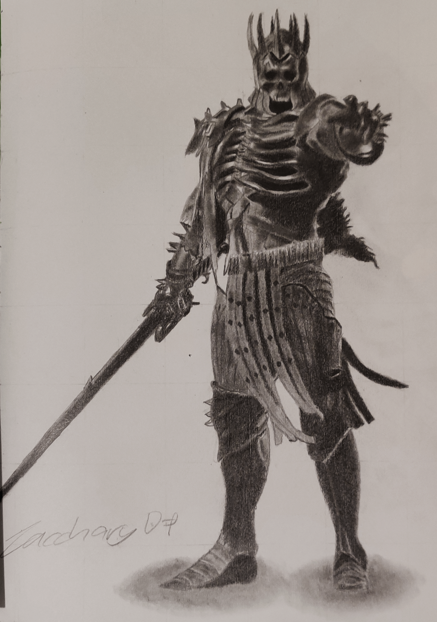 A drawing of the King of the Wild Hunt from 'The Witcher 3: Wild Hunt'.